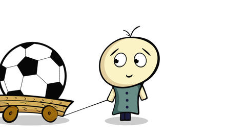 Little man and soccerball Animation