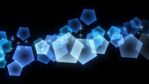 Glittering Circles And Pentagons Video Clipart (Loop Alpha) 2
