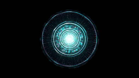 Futuristic Technology Background. Outer Space, Alien Technology And Spaceship Concept Animation