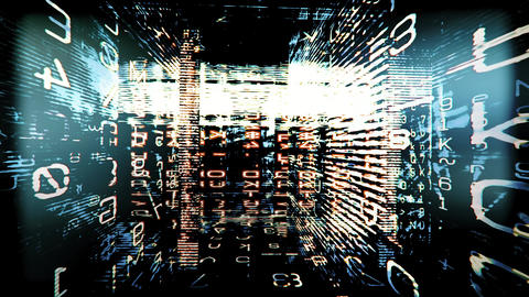 Digital Graffiti 071: Traveling through a maze of streaming data and video flux Animation