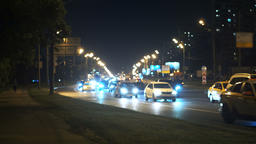 Night in the city - road and auto Footage