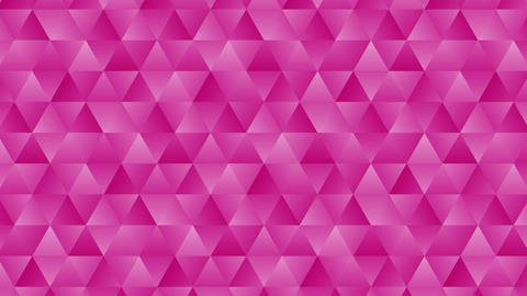 Triangle pattern of geometric shapes. Abstract polygonal loop animation. Colorful gradient Animation