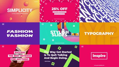 Typo Slides モーショングラフィックステンプレート