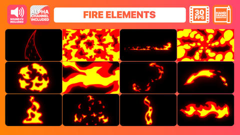 Fire Elements Premiere Pro Template