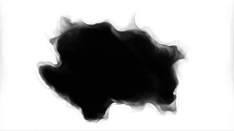 Augmented Ink Blots Are Falling And Spread Transition Animation