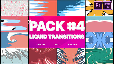 Liquid Transitions Pack 04 Motion Graphics Template