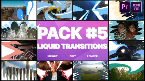 Liquid Transitions Pack 05 Motion Graphics Template