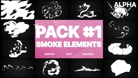 Smoke Elements Pack 01 Premiere Pro Template