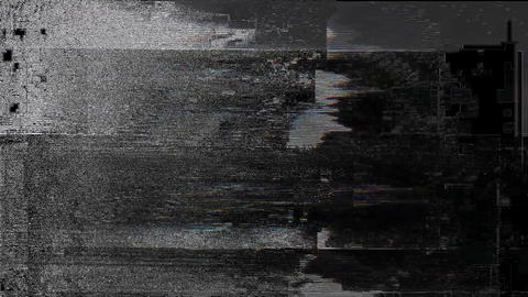 Touch No Signal On Television Gltich Effect Animation
