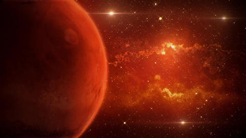 Solar System Planets Mars - Space Ambience Loop Motion... Stock Video Footage