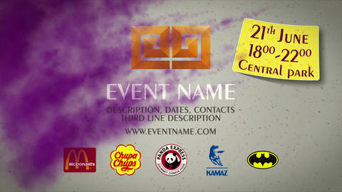 Colorful smoke promo event After Effects Template