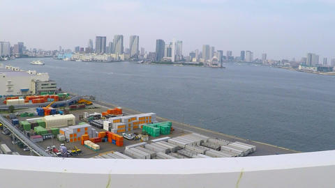 The scenery of the Metropolitan Expressway芝浦埠頭付近 Footage