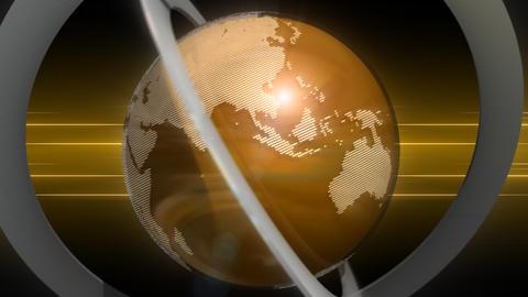 回転する地球儀 Animation