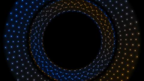 Glowing shiny blue orange circles video animation Animation