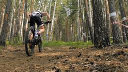 male cyclist riding a bike Footage