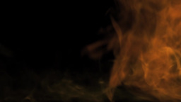 Intense Blast Of Flame With Fragments Burning stock footage