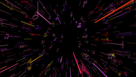 Colored Music Hyperspace Animation