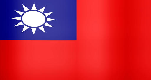 Waving Flag of Taiwan Looping Background Live Action