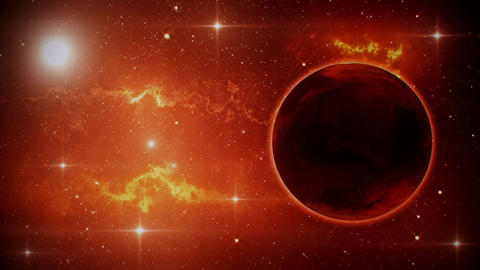 Solar System Planets Mars - Space Ambience Loop Motion…, Stock Animation