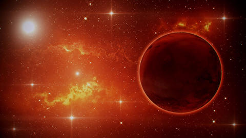Solar System Planets Mars - Space Ambience Loop Motion Background V2 Animation