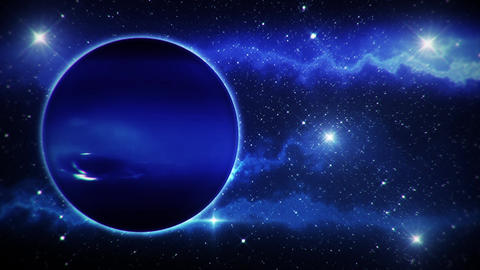Solar System Planets Neptune - Space Ambience Loop Motion Background Animation