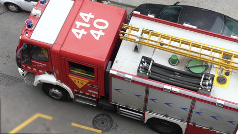 European Emergency Vehicle from the Fire Squad Footage