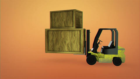 Folk Lift Truck Logo Reveal After Effects Template