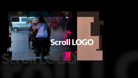 Scroll Logo Apple Motion Template