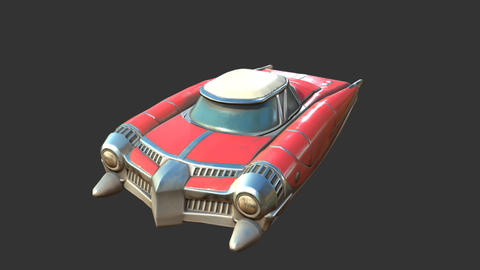 Car Vintage Futuristic 0