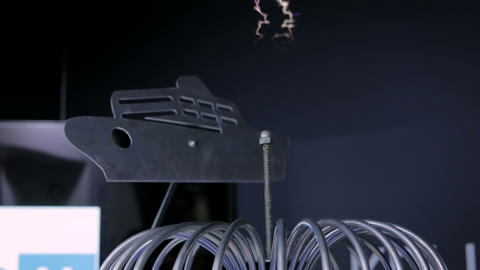 High-voltage experiment with tesla coil Live Action