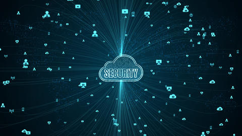 Cyber security digital data and conceptual futuristic... Stock Video Footage