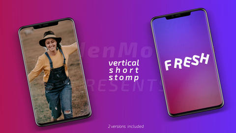 Vertical short stomp After Effects Template