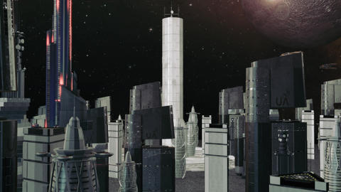 Futuristic City Building Animation
