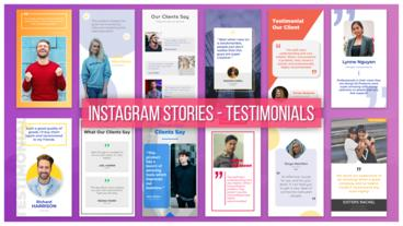 Instagram Stories - Testimonials After Effects Template