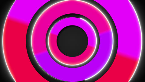3d colorful circles, stroke shapes, 3d rendering computer generated backdrop Footage