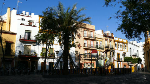San Juan de la Palma street and children playground Footage