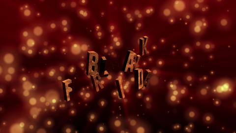 3D text animation of BLACK FRIDAY. Black Friday sale, shopping and promotion animation on shiny and Animation