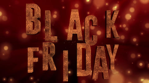 3D text animation of BLACK FRIDAY. Black Friday sale,... Stock Video Footage
