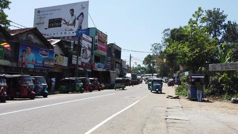 Nuware, Sri Lanka - 2019-03-26 - Tuk Tuk Traffic is Busy Footage