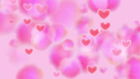 Light Pink Heart Watercolor Background Animation