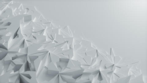 Low poly White Ice Block 3d Background with blank Space - Diagonal Animation