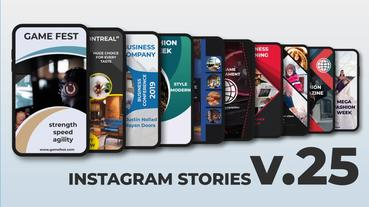 Instagram Stories v 25 After Effects Template