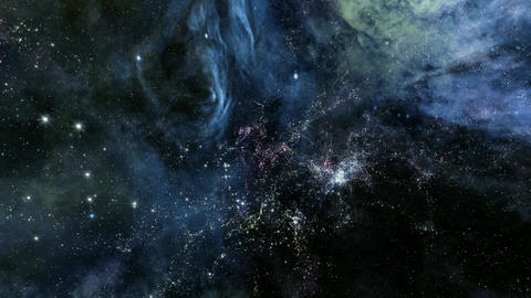 Space 2221: Traveling through star fields in deep space Animation