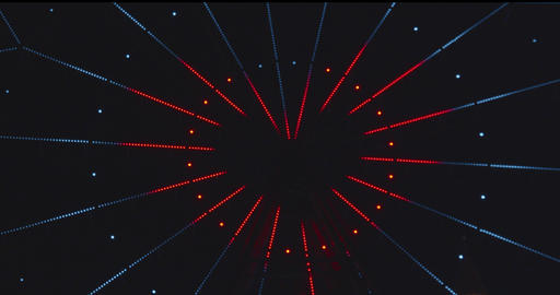 Ferris wheel is decorated with lights Footage