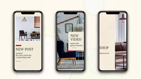 Instagram stories Home Decor After Effects Template