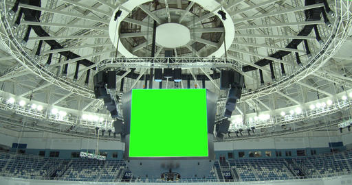 Scoreboard at the Stadium with a Green Screen Footage