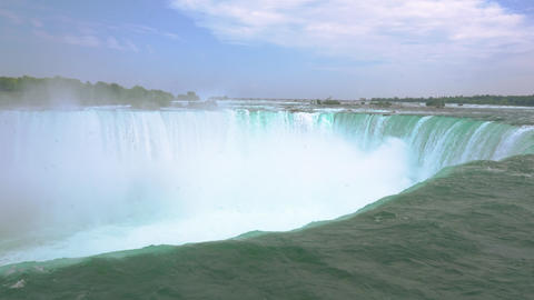 Majestic Niagara waterfall in summer Live Action