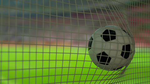 Football Goal Daytime Animation