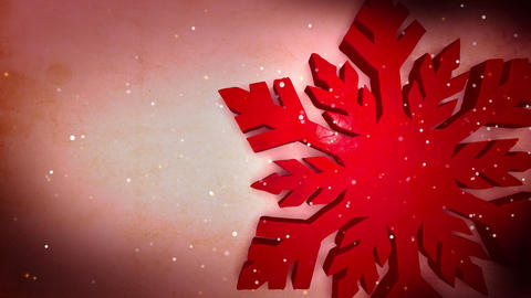 Red Snowflake Animation