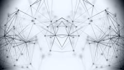 Geometric shapes on a white background Footage